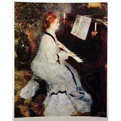 Pierre Auguste Renoir  LADY AT THE PIANO  Signed Limited Ed. Lithograph
