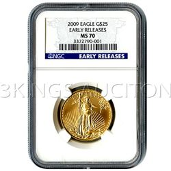 Certified $25 American Gold Eagle 2009 MS70 NGC