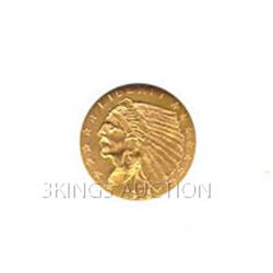 $2.5 Indian Extra Fine Early Gold Bullion