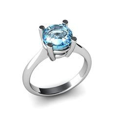 Aqua Marine 2.40ctw Ring 14kt White Gold