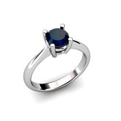 Sapphire 1.05ctw Ring 14kt White Gold