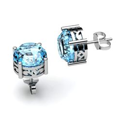 Topaz 3.10ctw Earring 14kt White Gold