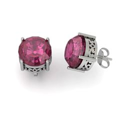 Ruby 4.50ctw Earring 14kt White Gold