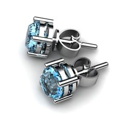 Topaz 1.12ctw Earring 14kt White Gold