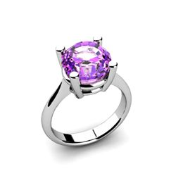Amethyst 3.30ctw Ring 14kt White Gold