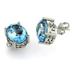 Topaz 5.00ctw Earring 14kt White Gold