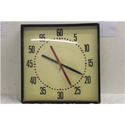 "ELECTRIC CLOCK WORKS 30"" X  30"""