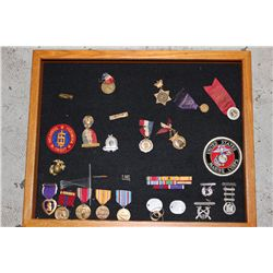 MILITARY LOT - MEDALS, RIBBONS, ETC.