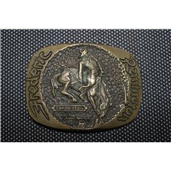 SOLID BRASS REMINGTON BELT BUCKLE