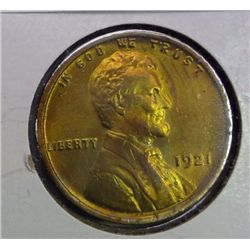 1921 LINCOLN ONE CENT GEM BU CLEANED