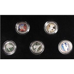 Discover Australia #'d set #439 set: (5) 1/10th oz. platinum  coins