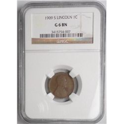 1909S  Lincoln penny  NGC06