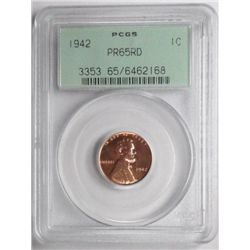 1942 proof   Lincoln penny  PCGS65 RED