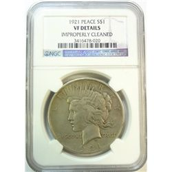 1921 Peace $  NGC  VF cleaned
