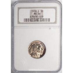 1938D  Buffalo nickel  NGC66