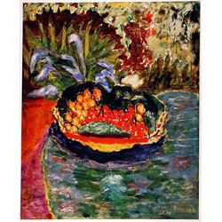 Pierre Bonnard BASKET of FRUIT on the TABLE  Signed Limited Ed. Lithograph