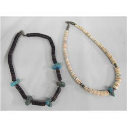 2 Santo Domingo Pueblo Heishi Turquoise Necklaces