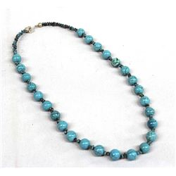 Navajo Turquoise Bead and Nugget Necklace