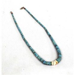 Navajo Turquoise & Shell Heishi Necklace