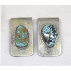 Two Turquoise Money Clips