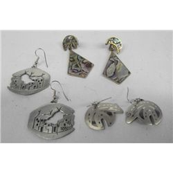 3 Pair Southwest and Mexican Earrings