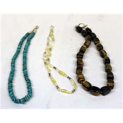 Collection of Three Gemstone Necklaces