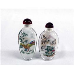 Chinese Glass Hand Painted Snuff Bottles