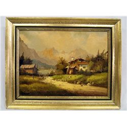 Antique Bavarian Oil Painting by LoHell