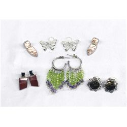 Collection of Sterling Silver Earrings