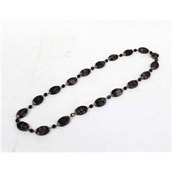 German Vintage Estate Purple Bead Necklace