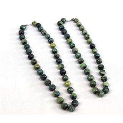 Jade Bead Necklace Chokers
