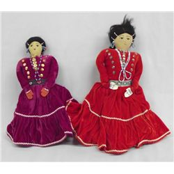 Navajo Dolls in Traditional Dress