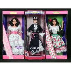 3 Barbies of the World- Chilean Mexican Puerto Rican