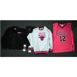 Chicago Bulls  Lot- Jacket Jersey Hat Tickets Sweater