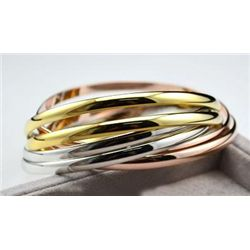 GT0522120008 Gorgeous Tri Color Trinity Bangle Style Br