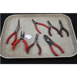 7 PAIR PLIERS ASSORTED SOME SNAP ON