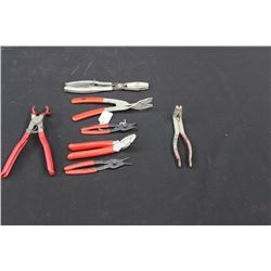 7 PAIR PLIERS - ASSORTED
