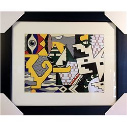 Roy Lichtenstein Limited Edition-POW WOW