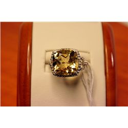 Lady's Fancy Silver Golden Sapphire Ring