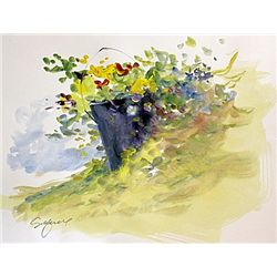 Original Watercolor on paper. Paper measures 12  x 16 . In excellent condition, comes unframed. Hand