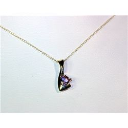 Lady's Fancy Unique Style 14 kt White Gold Tanzanite Necklace