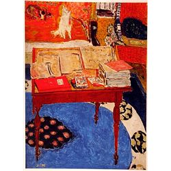 Pierre Bonnard WORK TABLE  Signed Limited Ed. Lithograph