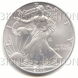 Uncirculated Silver Eagle 2001
