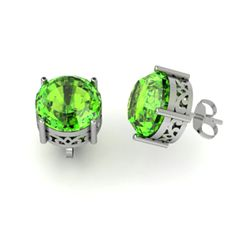 Peridot 5.25ctw Earring 14kt White Gold