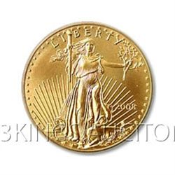 Uncirculated Half Ounce US American Gold Eagle (Dates O