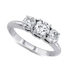 0.50 ctw Round cut Three Stone Diamond Ring, G-H, SI2