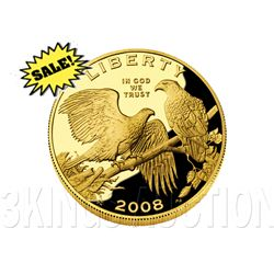 Gold $5 Commemorative 2008 Bald Eagle Proof