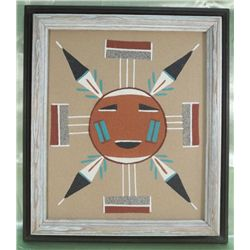 Navajo Four Way Houses Of The Sun Sand Painting