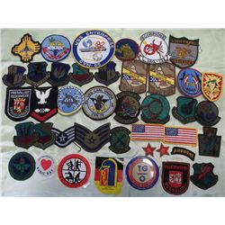 Assorted Military Patches & More - USA & Foreign