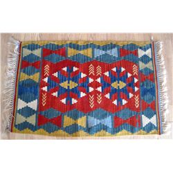 "Mexican/Native American 24"" x 36"" Woven Rug"